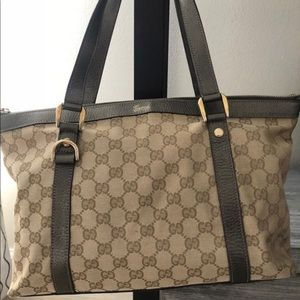 AUTHENTIC GUCCI TRIM MONOGRAM Shoulder BAG